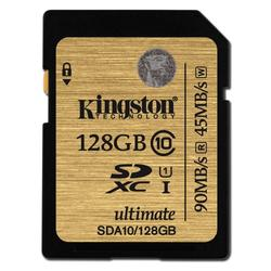 Kingston SDA10 U1, R90MB/W45MB, 128GB