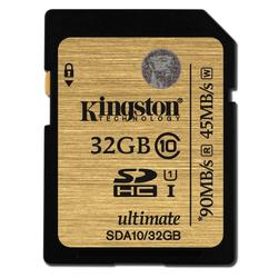 Kingston Kingston SDA10 U1, R90MB/W45MB, 32GB  - 32 GB