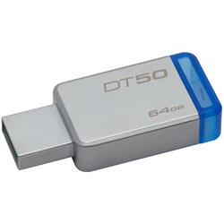 USB 64GB USB 3.0 DataTraveler 50 (Metal/Blue)