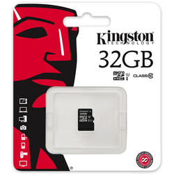 microSDHC 32GB Class 10 UHS-I 45R Flash Card Single Pack Adapter