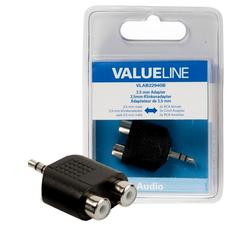 Valueline Adapter 3,5 mm M - CHINCH Žx2 Stereo VLAB22940B blister
