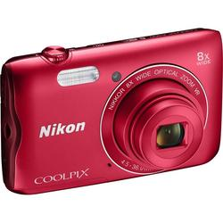 Nikon COOLPIX A300 Red + SD/16GB + Torbica