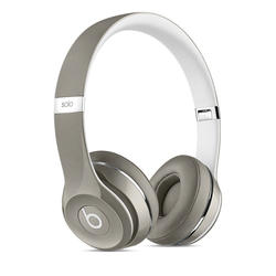 Apple Beats Solo2 On-Ear Headphones (Luxe Edition) - Silver
