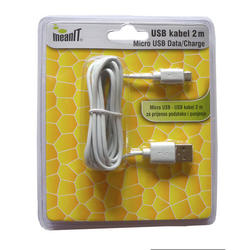 Meanit USB kabel 2 m