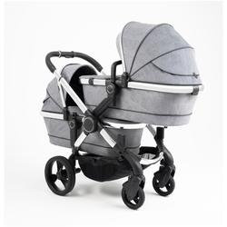 iCandy Peach 2020 kolica za blizance - Chrome Light Grey Check Twin, kromirano podvozje  - Svijetlosiva