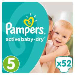 Pampers Active Baby Dry Pelene 5 Junior  - 52
