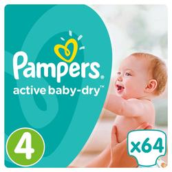 Pampers Active Baby Dry Pelene 4 Maxi  - 64