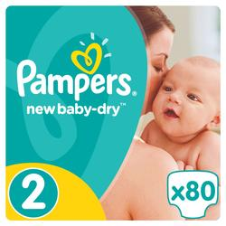Pampers New Baby Dry Pelene 2 Mini  - 80