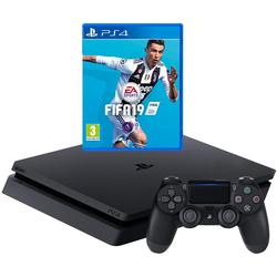 Sony PlayStation 4 500GB F Chassis Black + FIFA 19 PS4
