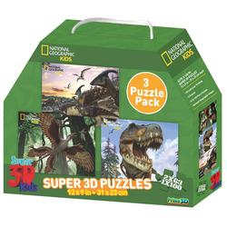 National Geographic Puzzle 3D - Dinosauri SET 3/1
