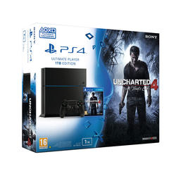 PlayStation 4 1TB Black + Uncharted 4: A Thiefs End