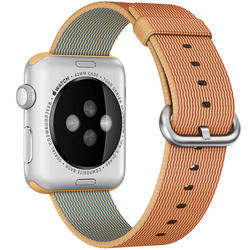 Apple Watch remen 42mm Woven Nylon  - Zlatnocrvena