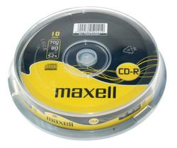 Maxell CD-R 52x, 700MB, 10 kom spindle