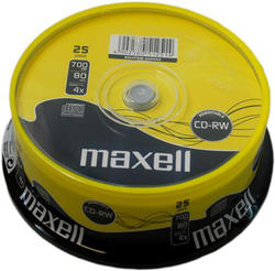 Maxell CD-RW 52x, 700MB, 25kom, spindle, rew