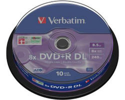 Medij DVD+R DL 8x, 8.5GB, Matt Silver, spindle 10 komada
