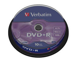 Medij DVD+R 16x, 4.7GB, Matt Silver, spindle 10 komada