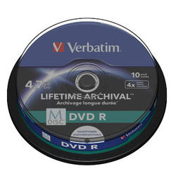 Medij DVD+R 4x, 4.7GB, M-Disc, Printable 10 pack spindle