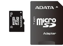 Adata SD MICRO 8GB HC Class4 + SD adapter