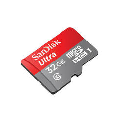 Memorijska kartica , micro SDHC Ultra, 32 GB, SDSQUNC-032G-GN6MA, class 10, UHS-I, 80MB/s + SD Adapter + Memory Zone Android App