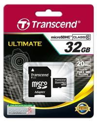 Transcend MICRO 32GB HC Class10 + SD adapter
