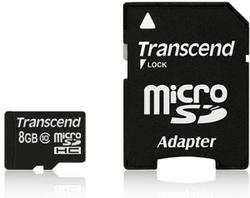 Transcend SD MICRO 8GB HC Class 10 + SD adapter