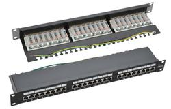 Cat6 Shielded 24P Patch Panel Black