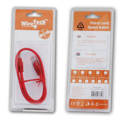 Patch kabel UTP Cat 5e, 2m, crveni, blister