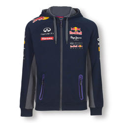 Red Bull Official Teamline Zip Hoodie Plava
