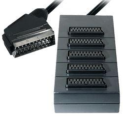 5-way Scart Splitter Scart-plug to 5x Scart-jack