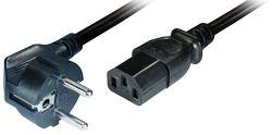 Power Cable Schuko -IEC 320 plug 2m